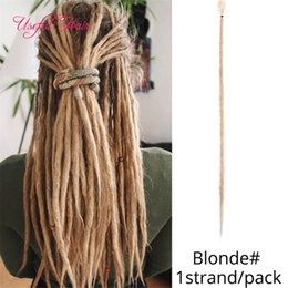 red synthetic braiding hair UK - Dreads Extensions Hair Beyond Beauty 1 Strands Braided Synthetic Handmade Dreadlocks Hair Extensions Crochet Braiding Reggae Crochet Braids