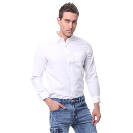 $enCountryForm.capitalKeyWord Canada - 2016 New Design Men Pure Color Oxford Shirt Business Formal Dress Shirts Long Sleeve Big Size Cloth
