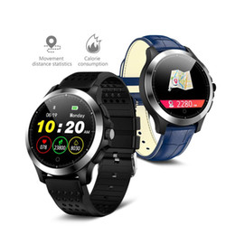 Smart Watch Brown Australia - ECG PPG Smart Watch 1.22 inch Men's Business Casual Smartwatch Heart Rate Call Message Reminder Bluetooth