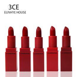 Lipstick Lasts Australia - 3CE Eunhye House Lips Makeup Batom Moisturizering Matte Lipstick Water Resistant Lip Stick 5 Colors Long Lasting Cosmetic