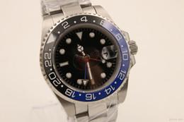 Опт магазин Топ продавец jason007 роскошные часы мужчины 116710BLNR половина синий черный керамический безель часы автоматические часы мужские платья часы