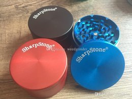 cheap grinders free shipping Canada - 40mm 63mm mini cheap metal sharpstone grinder protable colorful tobacco Herb grinder for smoking free shipping