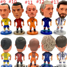 action figures sport Australia - Portugal C Ronaldo Neymar Russia World Cup Gift Football Star Doll Garage Kits Model Lovely Gifts Reality Soccer Action Figures Cute