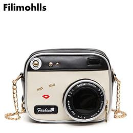 $enCountryForm.capitalKeyWord Australia - New Funny Women Leather Shoulder Messenger Cross Body Bag Camera Shaped Lip Handbag Shopping Tote Bolsa Mujer Small Flap F-18 Y19061301