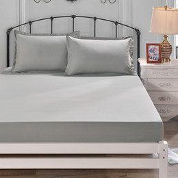 $enCountryForm.capitalKeyWord Australia - 1PCS Solid Color Colourful Fitted Sheet 1.2*2.0m 1.5*2.0M 1.8*2.0M Height 25CM Solid Polyester King Bed Apron Bedspread5