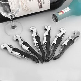 pulltap corkscrew 2019 - Stainless Steel Wine Bottle Opener Sea Horse Corkscrew Knife Pulltap Double Hinged Corkscrew Free DHL HH7-1880 cheap pul