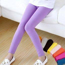 $enCountryForm.capitalKeyWord Australia - Girls leggings girl pants Candy color Toddler classic Leggings children tights baby kids leggings 2-13 Y
