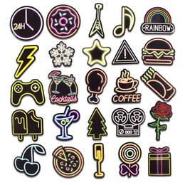 $enCountryForm.capitalKeyWord Australia - 50 PCS lot Neon Light Sticke Cute Decals Stickers Gifts for Children to Laptop Suitcase Guitar Fridge Bicycle Car 004