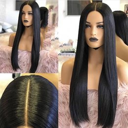 straight full lace wig silk base NZ - Silky Straight Silk Base Full Lace Front Human Hair Wigs With Baby Hair Unprocessed Virgin Brazilian Glueless Silk Top Full Lace Wigs