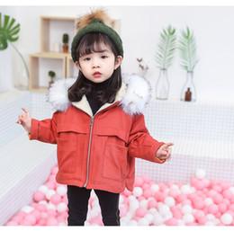 $enCountryForm.capitalKeyWord Australia - good quality Baby Girl Winter Denim Jacket Hooded Korean Baby Clothes Kids 2019 Faux Fur Girls Fur Coat 2 3 4 5 6 Years