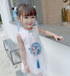 $enCountryForm.capitalKeyWord Australia - 2019 Girls Cheongsam dress princess Retro skirt Chinese style summer dresses Chinese clothing flower fairy show dress chiffon clothing