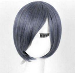 $enCountryForm.capitalKeyWord Australia - FREE SHIPPIN + ++ + Black Butler Ciel Phantomhive grey Cosplay wig short hair