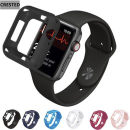 $enCountryForm.capitalKeyWord NZ - CRESTED Case+strap For Apple Watch band pulseira apple watch 4 3 42mm 38mm iwatch band 44mm 40 correa bracelet protective cover