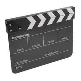Vente en gros Acrylique Administration Bardeau Clapper Conseil Dry Erase Cut action-anglais Noir