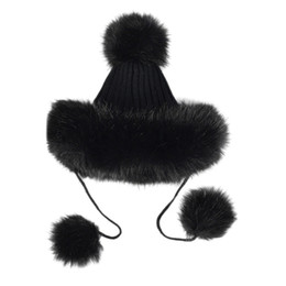 165226bd9d1c2 Fashion funny women hat female Adult Women Men Winter Faux Fur Knit Hat  Hairball Warm Cap winter