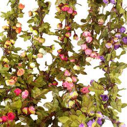 Decorations fake green online shopping - Autumn Scenery Stars Grass Ivy Plants Little Rose False Grass Dense Fake Rattan Green Conduit Decoration Hot Sale cqb1