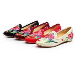 Comfortable Soft Women Shoes UK - 2019 Hot Sale-Women Shoes Chinese Vintage Women Flats Old Peking Shoes Wonderful Flower Embroidery Comfortable Soft Breathable Zui Fu Rong