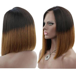 $enCountryForm.capitalKeyWord Australia - Celebrity wigs full lace wig bob style 12inch ombre 1b 30 bob wig layer virgin indian human hair lace frontal wig free shipping