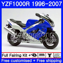 thunderace fairings UK - Body For YAMAHA YZF1000R Blue silver hot Thunderace 02 03 04 05 06 07 238HM.46 YZF 1000R YZF-1000R 2002 2003 2004 2005 2006 2007 Fairing kit