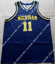 39d18f181 Cheap custom Vintage Michigan Wolverines #11 NCAA Basketball Jersey  Stitched Customize any number name MEN WOMEN YOUTH XS-5XL