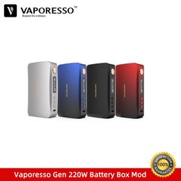 $enCountryForm.capitalKeyWord Australia - Pre-sale Vaporesso GEN 220W TC Box Mod fit for Skrr-S Vape Tank Vaporizer Powered by dual 18650 Battery VS Voopoo Drag Mods Box
