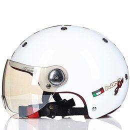 $enCountryForm.capitalKeyWord NZ - Beon Motorcycle Summer half kids Helmet Women DOT Men Motorbike moto Vintage Scooter Bicycle Half Face Helmets