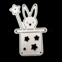 Card die punCh online shopping - Magic Rabbit Metal DIY Cut Dies Circus Troupe Rabbit Easter Cut Scrapbook Paper Craft Card Album Embossing Stencils Template Punch IIA195