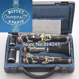 Качественный Бренд Buffet 1825 B18 Clarinet 17 Ключ BB Музыкальные инструменты с черным корпусом Бакелита Трубка Кожаная коробка на Распродаже