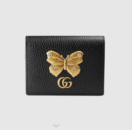 decorative plate holders UK - Butterfly 499361 decorative leather card holde WALLET CHAIN WALLETS PURSE Shoulder Bags Crossbody Bag Belt Bags Mini Bags Clutches Exotics