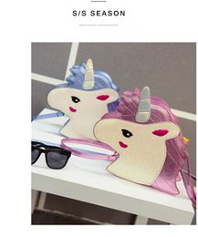 $enCountryForm.capitalKeyWord Australia - 2 Colors Personality Laser Sequins Unicorn Shape Shoulder Bag Unicorn Handbag Ladies Purse Unicorn Crossbody Messenger Bag dc071