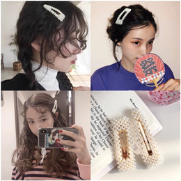 pearl hair jewellery Australia - Fashion jewellery 2019 pearl hair clip yiwu factory directly wholesale custom hair pin fancy hair clips