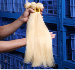 $enCountryForm.capitalKeyWord Australia - 613 Blonde Human Straight Hair Bundles 100g 1 PCS Blonde Bundles Weave 100% Human Hair Wefts