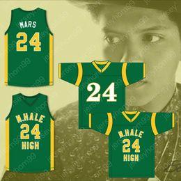 6846ce4f864 Movie 24 Bruno Mars Jersey Snoop Dogg 20 Wiz Khalifa 8 N.Hale High School  Football Jerseys Young Wild and Free