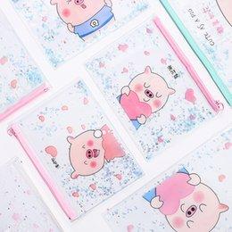 Office & School Supplies Big Capacity Pig Document Bag File Folder Cute Pvc Unicorn Pink Leopard Cactus Pen Bag Pencil Case School Supplies Filing Products