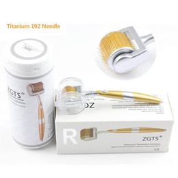 $enCountryForm.capitalKeyWord Australia - Professional Titanium ZGTS Derma Roller 0.2 0.25 0.3mm needle for face care and hair-loss treatment CE Certificate Proved