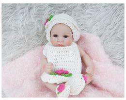 $enCountryForm.capitalKeyWord Australia - 28CM Full vinyl Silicone Reborn Baby Doll Lifelike Real Touch Newborn Baby with Clothes Kids Playmate Best Birthday Christmas Gift