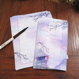 $enCountryForm.capitalKeyWord Australia - 1set Ancient Chinese style vertical eight lines retro stationery envelopes pen pen calligraphy paper Chinese style 5th envelope