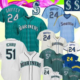 021d0b56af8 Mariners 51 Ichiro Suzuki Baseball Jerseys Seattle Mariner 24 Ken Griffey  Jr. Majestic Northwest Baseball Jerseys Cheap wholesale