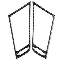 Console sets online shopping - 2pcs Carbon Fiber Console Air Vent Outlet Cover Trim For Infiniti Q50 V37 Car Interior Decoration Set