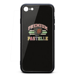 Bumpers Phone Cases UK - IPhone 8 Case,iPhone 7 Case Kanye West premium pastelle 9H Tempered Glass Cover TPU Bumper Shock Absorption Phone Case