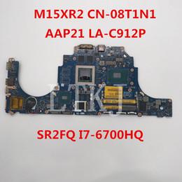 I7 Socket Australia - High quality For 15 R2 Laptop Motherboard CN-08T1N1 08T1N1 8T1N1 AAP21 LA-C912P With SR2FQ I7-6700HQ 100% full Tested