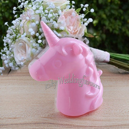 table ideas Canada - 12PCS Plastic Unicorn Favor Boxes Baby Shower Party Gifts Birthday Favors Holders Kids' Party Table Decoration Supplies Ideas