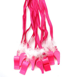 $enCountryForm.capitalKeyWord UK - Novelty Hot Pink Hen Party Game Fluffy Whistles Girls Night Out Bachelorette Party Decoration Game Favor Gifts
