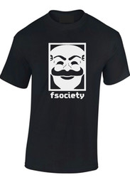 "army masks 2019 - MR. ROBOT T SHIRT ""F SOCIETY MASK"" E CORP HACKING UNISEX MEN KIDS T-SHIRT TEE custom printed tshirt, hip hop f"