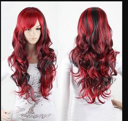 $enCountryForm.capitalKeyWord Australia - WBY Fashion Black Mix Red Wig Long Wavy Hair Women Cosplay Full Wigs