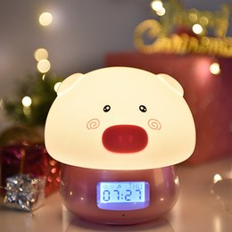 $enCountryForm.capitalKeyWord NZ - Remote Control Silica Gel Adorable. Small Night-light Alarm Clock Cartoon Usb Charge More Function Colorful Led Sound Recording Clap Lamp
