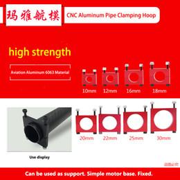$enCountryForm.capitalKeyWord Australia - CNC Aluminum 8mm 10mm 12mm 16mm 18mm 20mm 22mm 25mm 30mm black red Tube Clamp Motor Mount Fixture Clip Holder for Multi-axis Air
