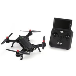 Mjx quadcopter online shopping - MJX Bugs B6 GHz CH Axis Gyro RTF Drone With HD P G FPV Camera And quot LCD RX Monitor Brushless RC Quadcopter