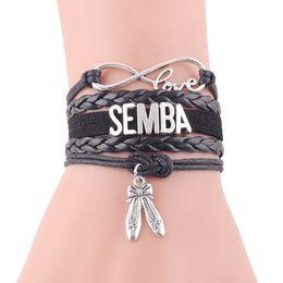 $enCountryForm.capitalKeyWord Australia - Infinity love SEMBA bracelet dance shose charm Rope handmade DANCER wrap Bracelet for women Leather bracelets & bangles jewelry