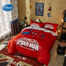 spiderman beds Australia - Red Spiderman Bedding Set for Kids Comforter Duvet Covers Pillowcases Bedroom Decor Double Queen Pillowcases for Boys Home Decor